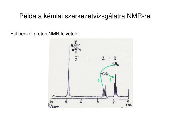 Példa a kémiai szerkezetvizsgálatra NMR-rel