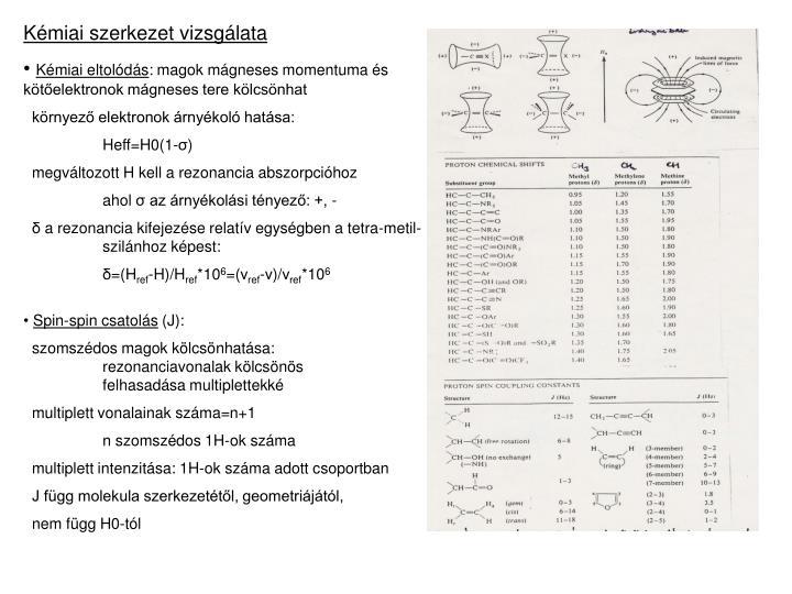Kémiai szerkezet vizsgálata