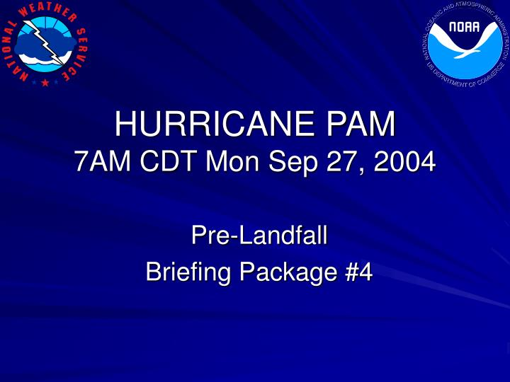 Hurricane pam 7am cdt mon sep 27 2004