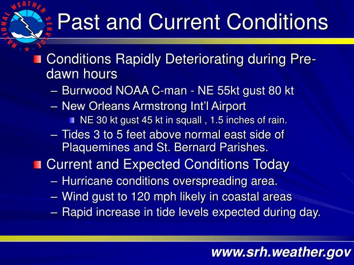 Past and Current Conditions