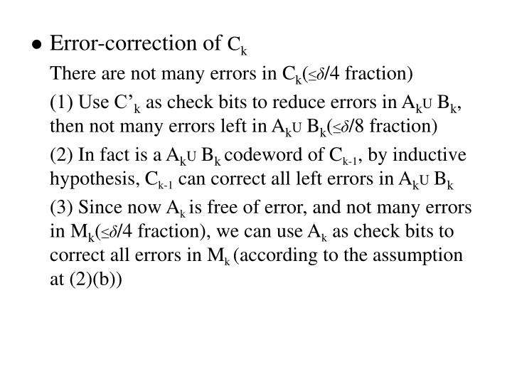 Error-correction of