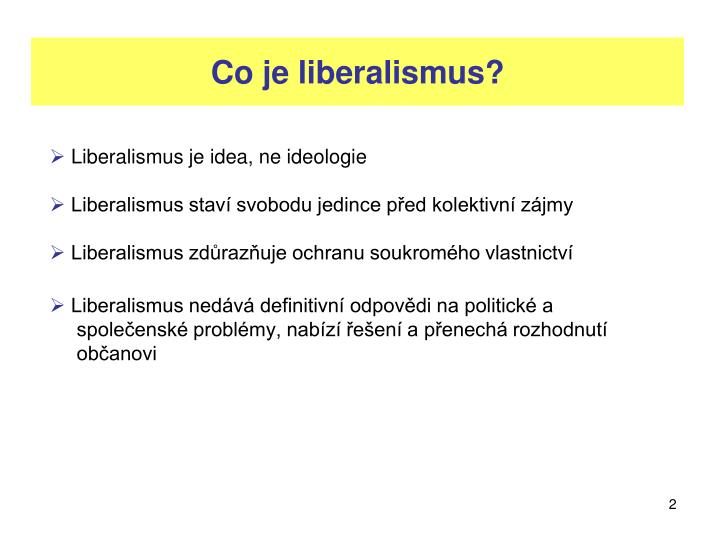 Co je liberalismus