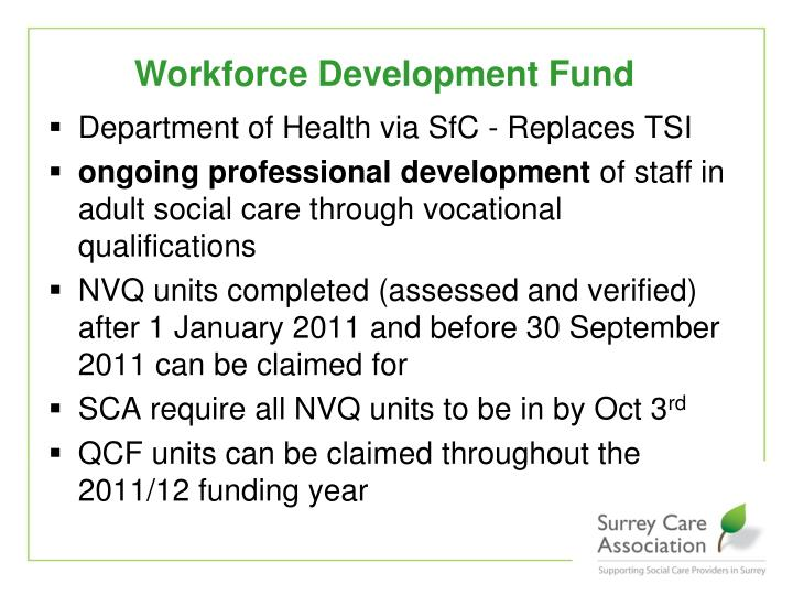 Workforce Development Fund