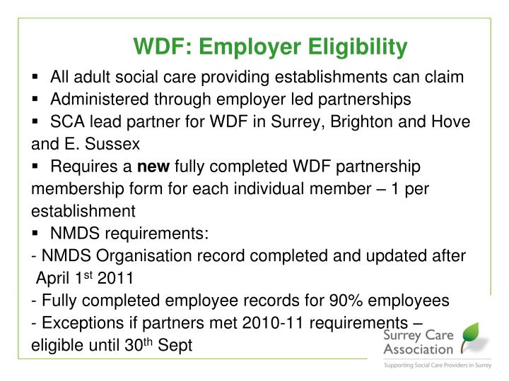 All adult social care providing establishments can claim