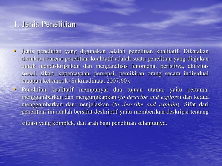 1. Jenis Penelitian