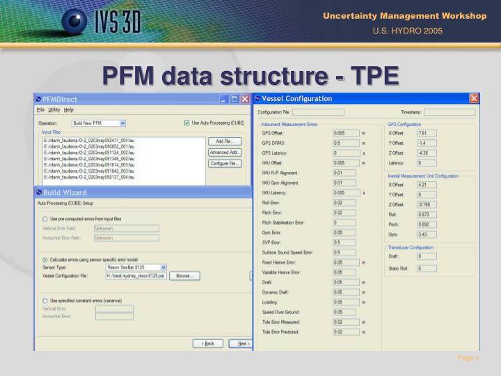 PFM data structure - TPE