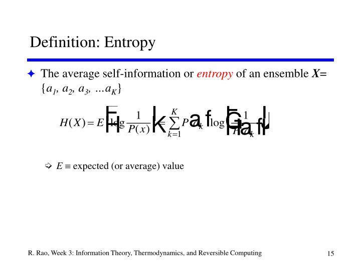 Definition: Entropy