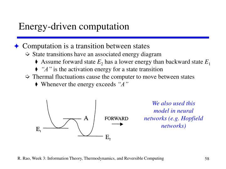 Energy-driven computation