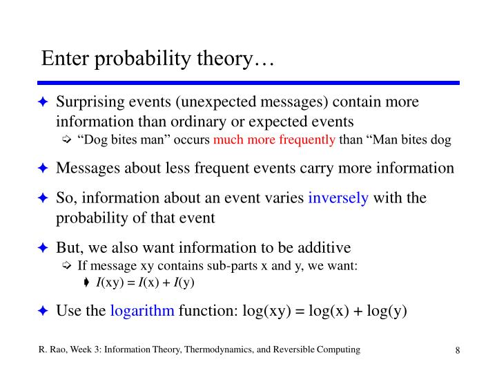 Enter probability theory…