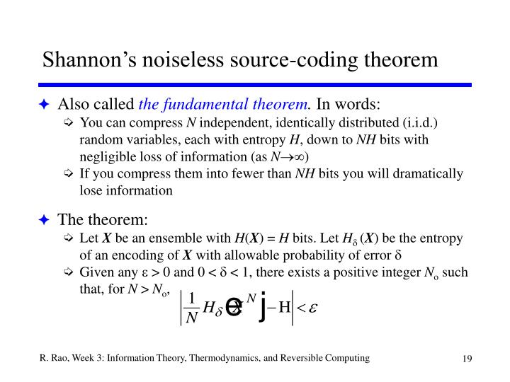 Shannon's noiseless source-coding theorem