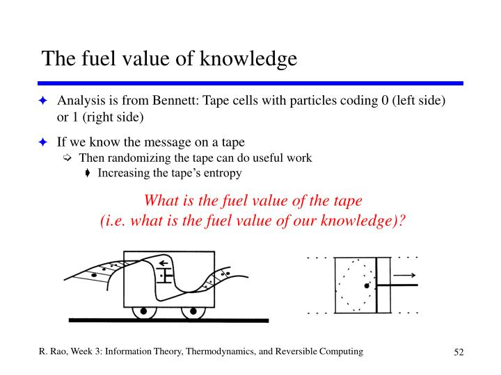 The fuel value of knowledge