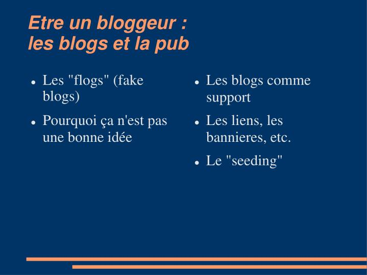 Les blogs comme support