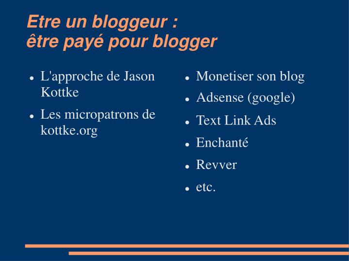 Monetiser son blog