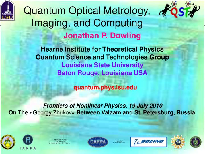 Quantum Optical Metrology, Imaging, and Computing