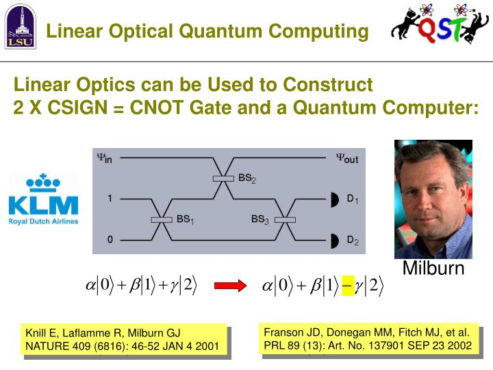 Linear Optical Quantum Computing