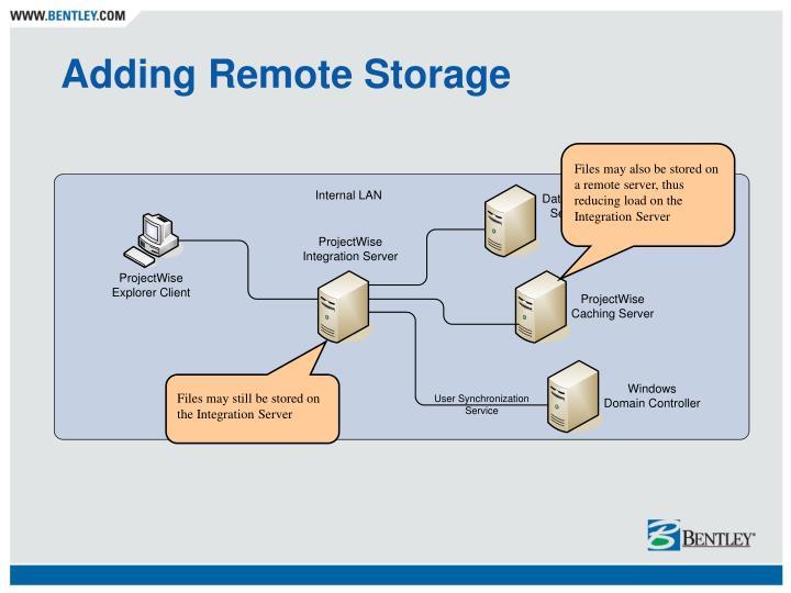 Adding Remote Storage