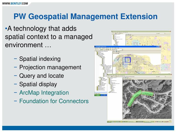 PW Geospatial Management Extension
