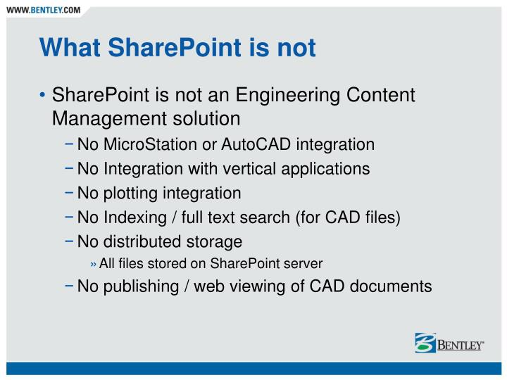 What SharePoint is not