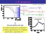 l e analysis