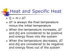 heat and specific heat