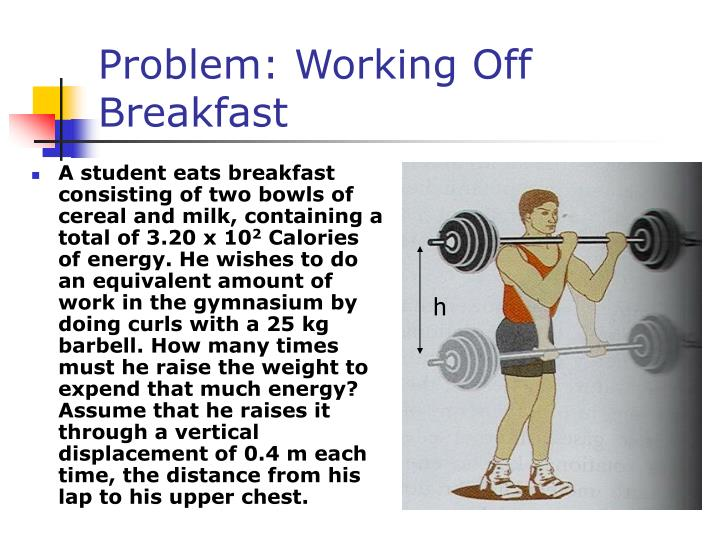 Problem: Working Off Breakfast