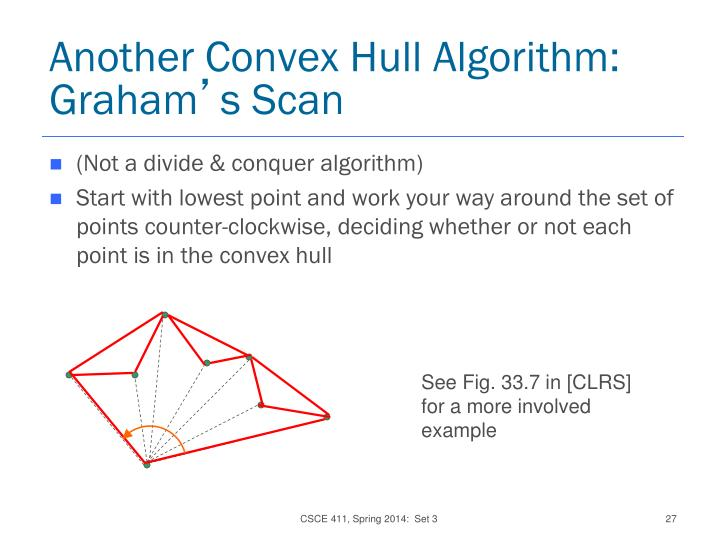 Another Convex Hull Algorithm:  Graham