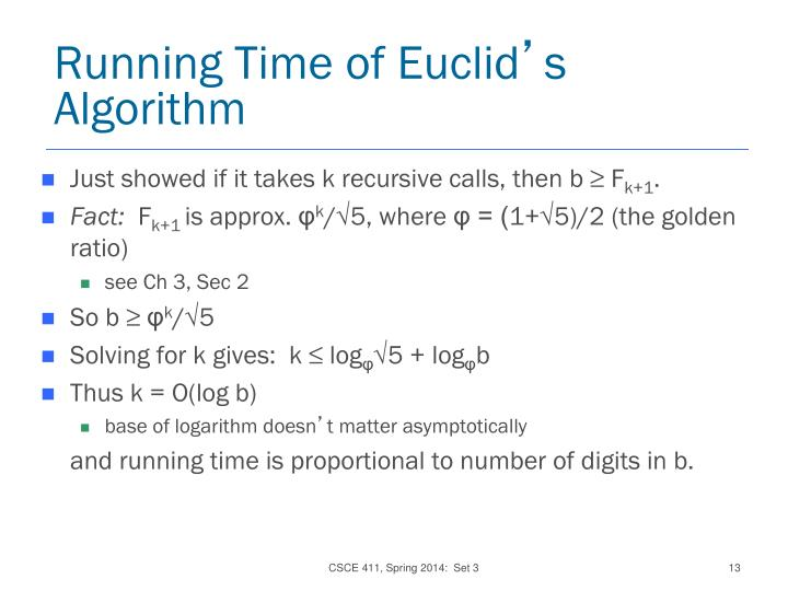 Running Time of Euclid