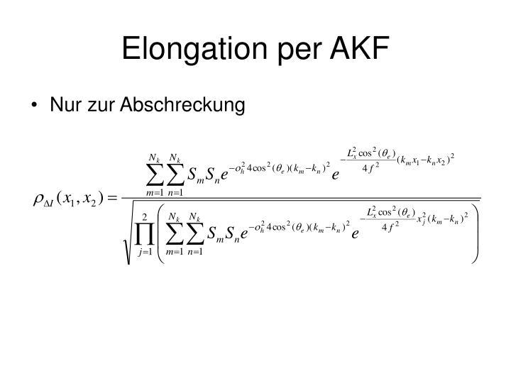 Elongation per AKF