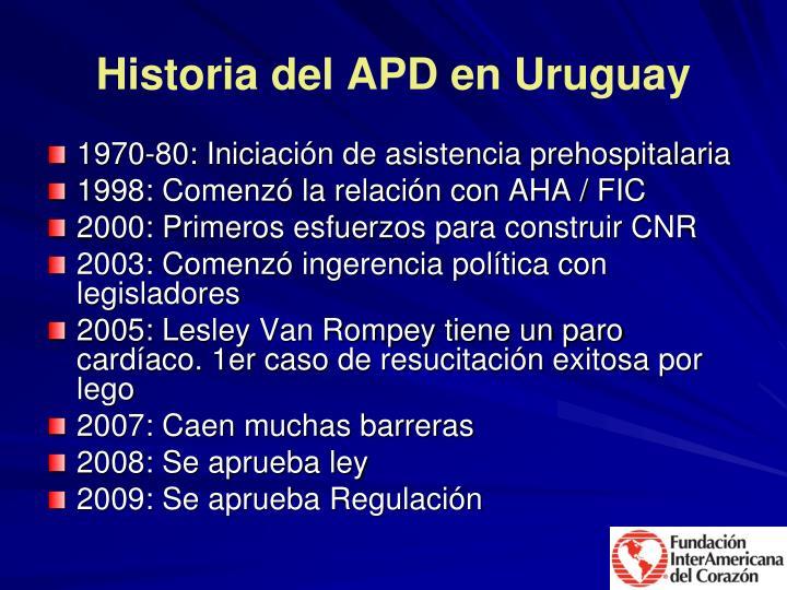Historia del APD en Uruguay