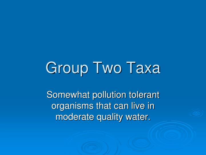 Group Two Taxa