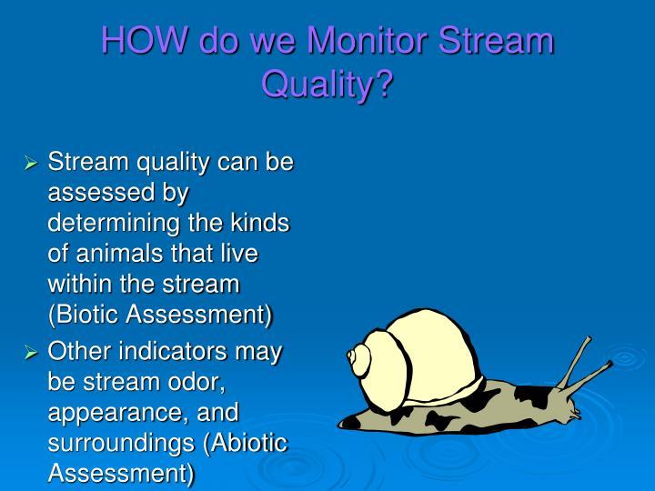 HOW do we Monitor Stream Quality?