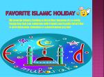 favorite islamic holiday