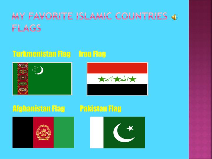 My Favorite islamic countries flags