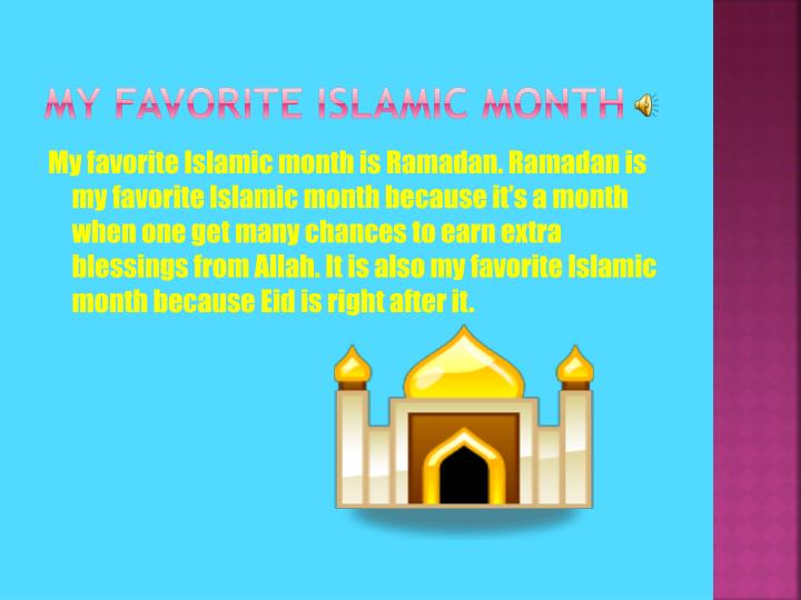 My Favorite islamic month