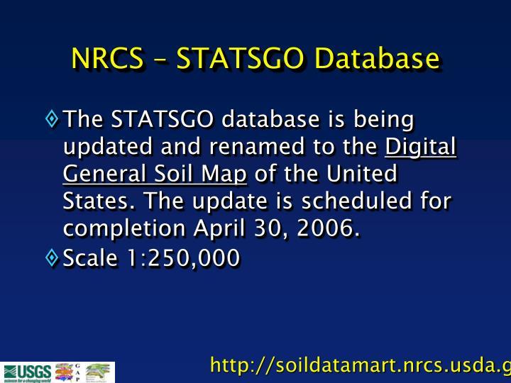 NRCS – STATSGO Database