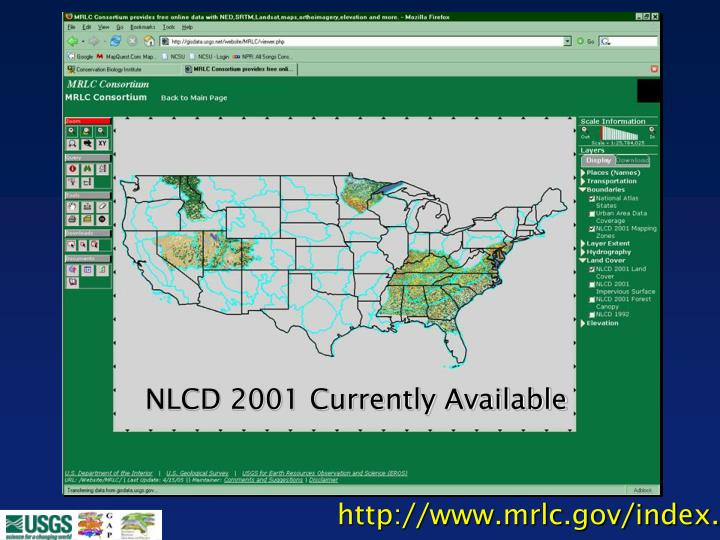 NLCD 2001 Currently Available