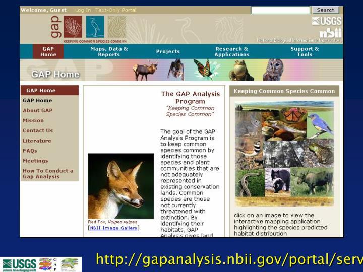 http://gapanalysis.nbii.gov/portal/server.pt