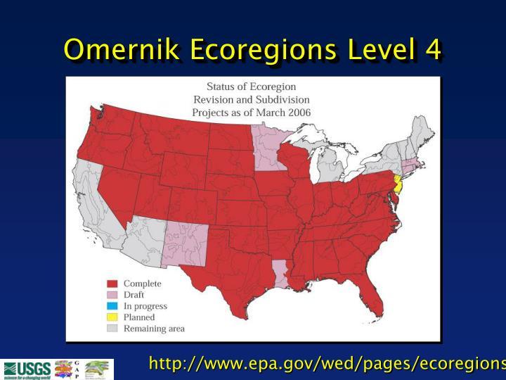 Omernik Ecoregions Level 4
