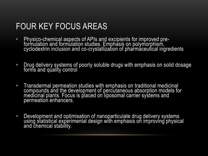 Four key focus areas