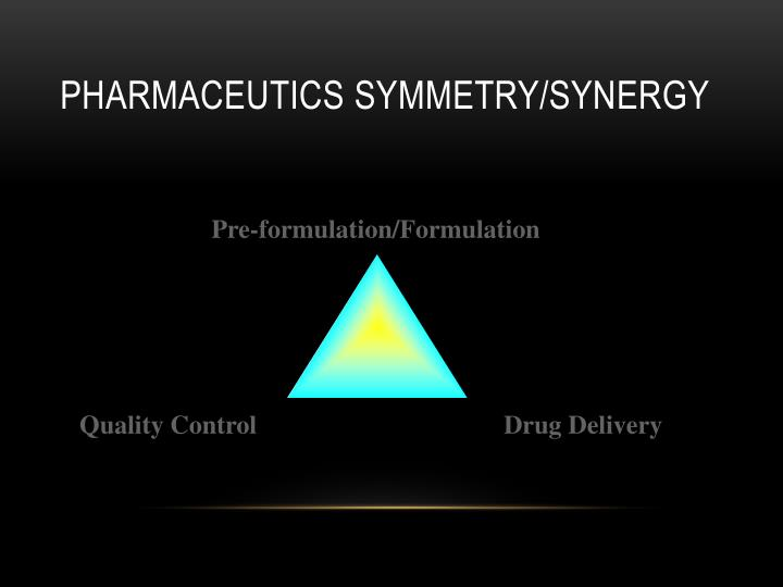 Pharmaceutics Symmetry/Synergy