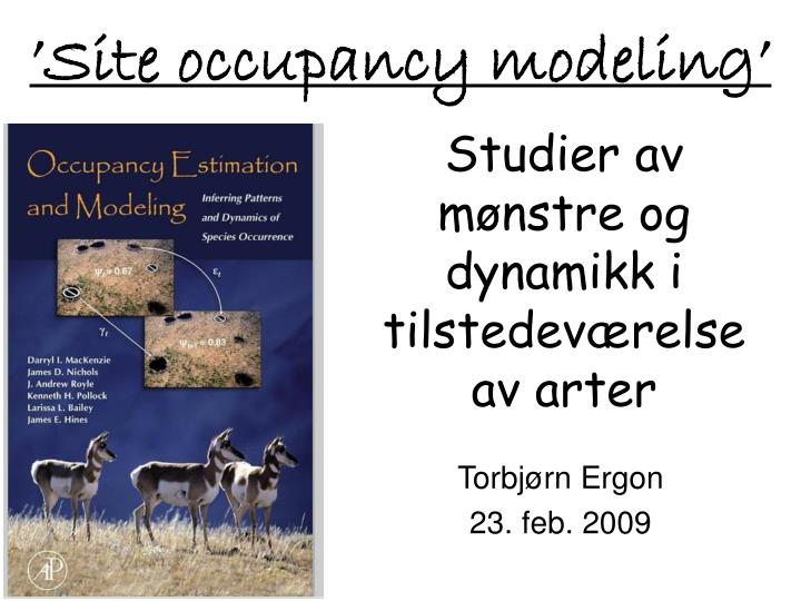 'Site occupancy modeling'
