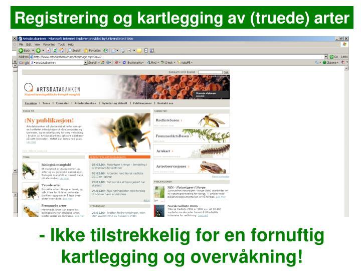 Registrering og kartlegging av (truede) arter