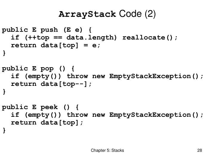 ArrayStack
