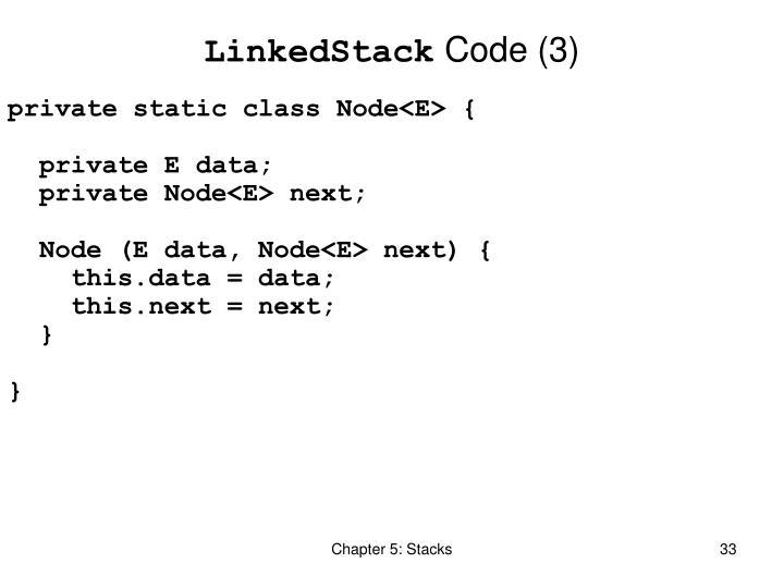 LinkedStack