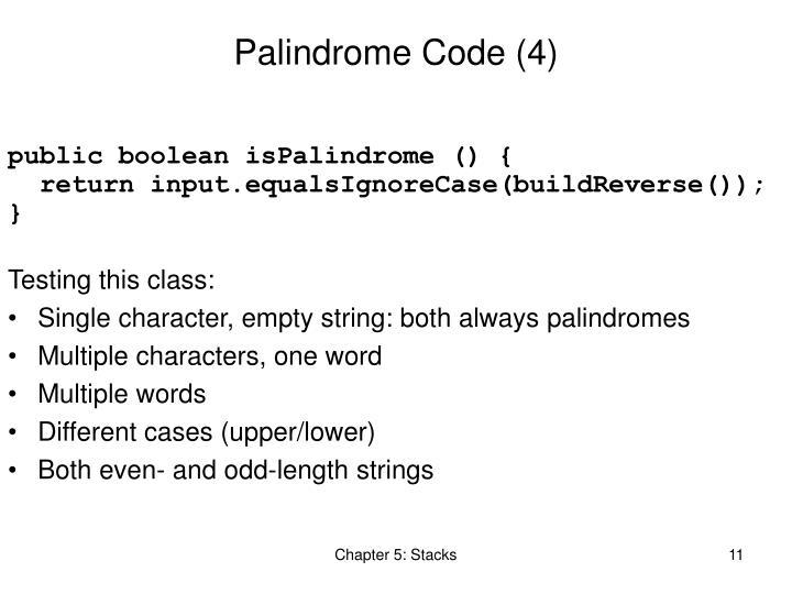 Palindrome Code (4)