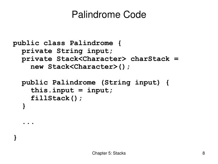 Palindrome Code