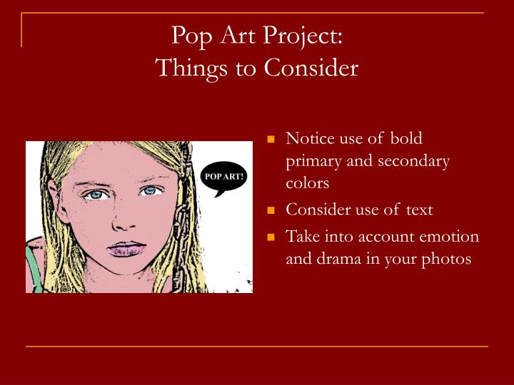 Pop Art Project: