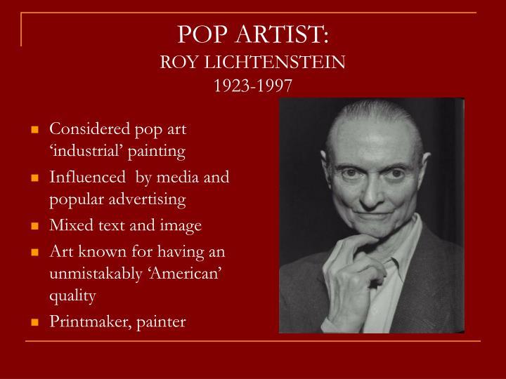POP ARTIST:
