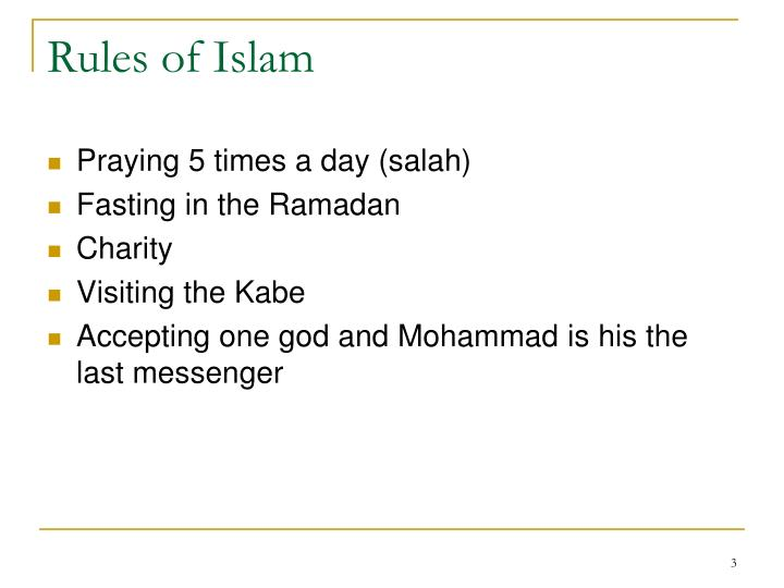Rules of Islam