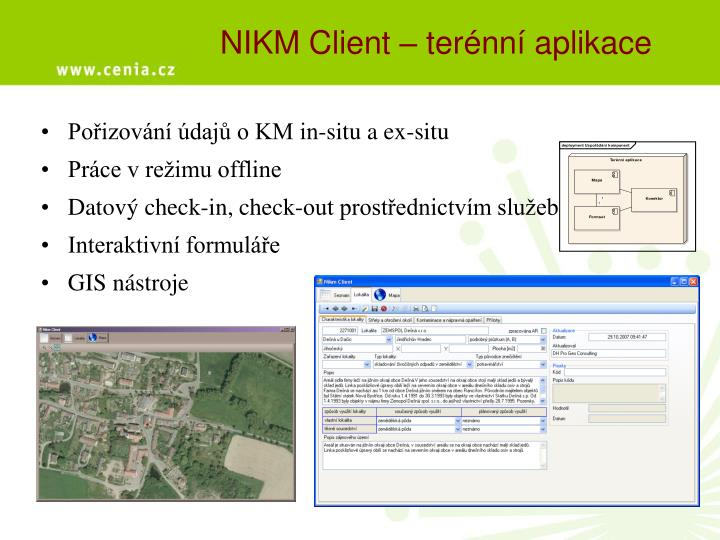 NIKM Client – terénní aplikace